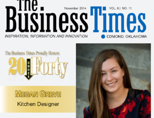 Megan selected by Edmond Business Times