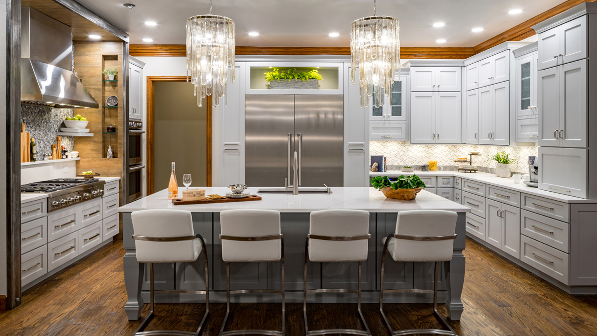 Transitional Kitchen with custom cabinetry