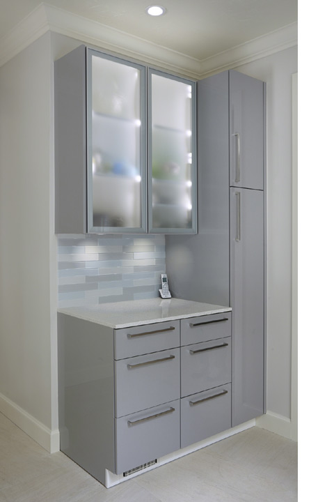 Contemporary cabinets for this Norman remodel