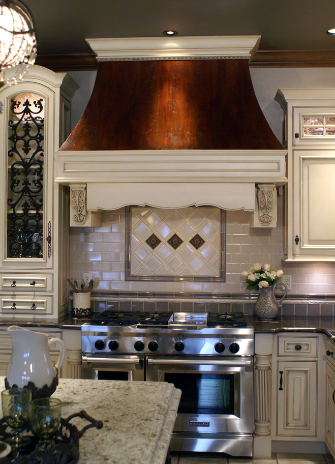 Deer Creek Kitchen Design and Build with custom cabinetry including our custom vent hood.